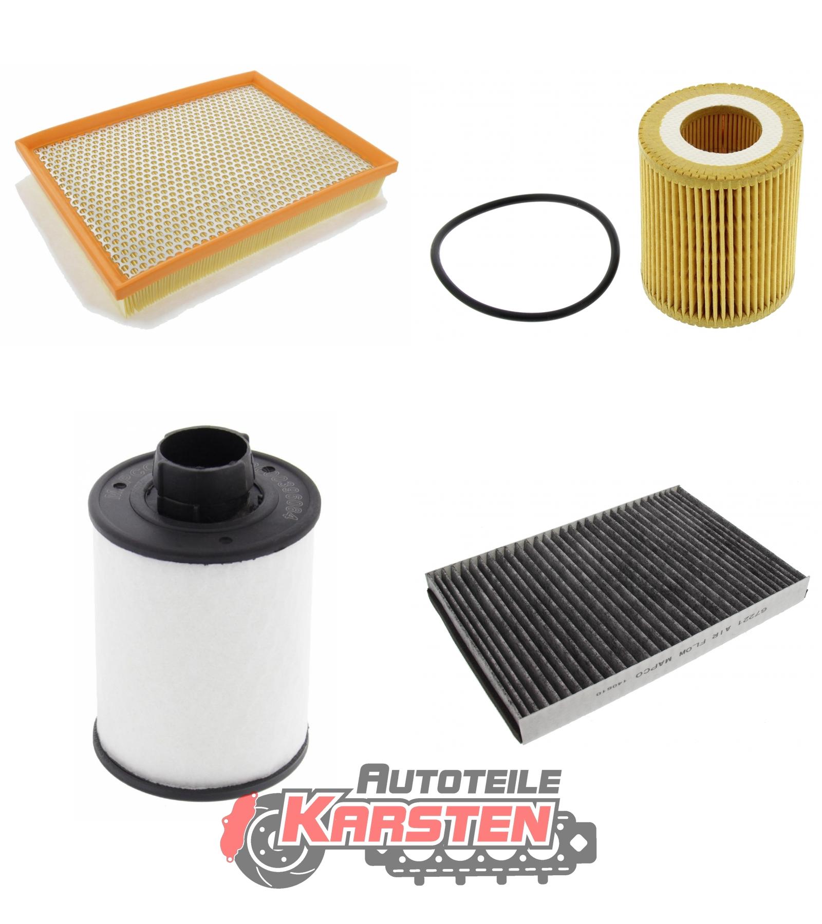 1x Kraftstofffilter 1x Innenraumfil FilterSet L 1x Luftfilter : 1x Ölfilter